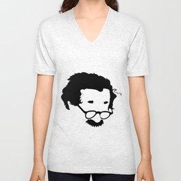 Faceless E=MC2 Albert Einstein Unisex V-Neck