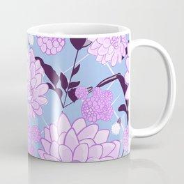 Soft calming lilac spring florals design Coffee Mug