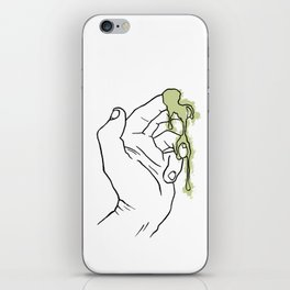 A Hand with Snot iPhone Skin