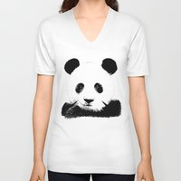 red panda V-neck T-shirts featuring Red Panda by Laura Brightwood