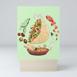 Falafel Mandala Mini Art Print