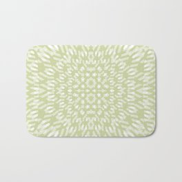 warped bandanna. pale sage Bath Mat