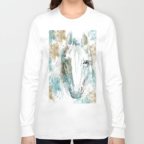 Watercolor Horse Long Sleeve T-shirt
