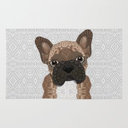 Brown Frenchie Puppy 001 Rug