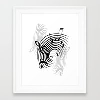 music notes Framed Art Prints featuring Music Notes by Svetlana Sewell