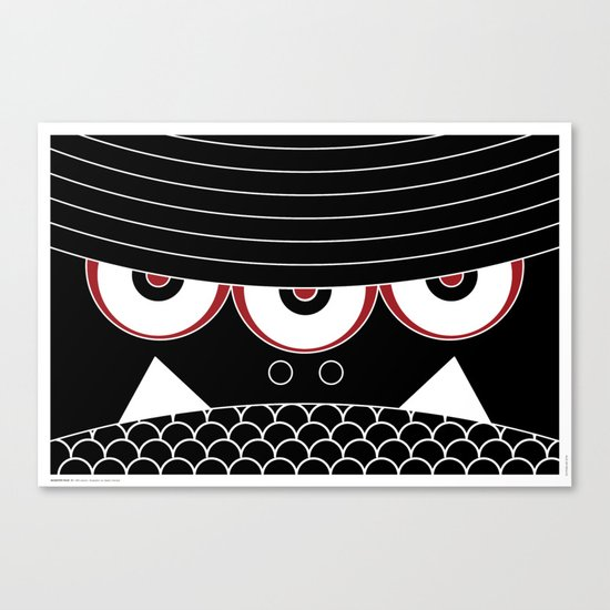 MONSTER FACE 01 Canvas Print
