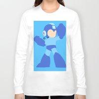mega man Long Sleeve T-shirts featuring Mega Man(Smash)Black by ejgomez