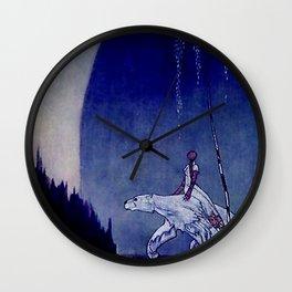 Kay Nielsen Fairy Tale Art Princess and Polar Bear Wall Clock