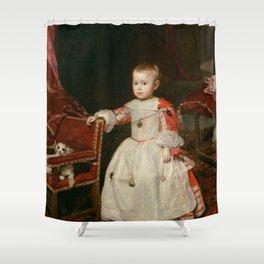 "Diego Velázquez ""Infant Philipp Prosper (Felipe Próspero)"" Shower Curtain"