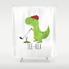 Tee-Rex Shower Curtain