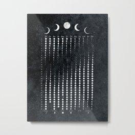 Luna Moon Phases Calendar 2021 Metal Print