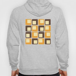 70s Retro Square Shapes Pattern Hoody