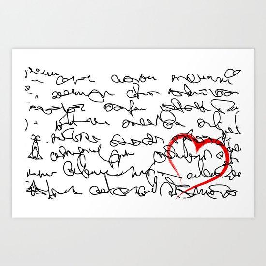 Message Art Print