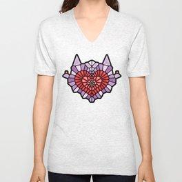 Heart Voronoi Unisex V-Neck