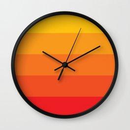 Retro Sunrise Wall Clock
