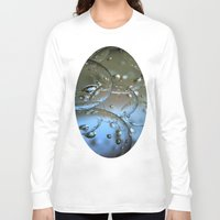 jewish Long Sleeve T-shirts featuring Voir le beau verre  by Brown Eyed Lady
