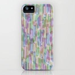 Brushstrokes on White iPhone Case