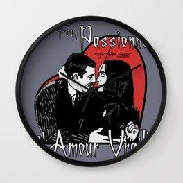 """Un Fou, Passionné, l'Amour Vrai!"" (One Crazy, Passionate, True Love!) Wall Clock"