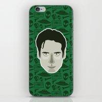 mulder iPhone & iPod Skins featuring Fox Mulder by Kuki