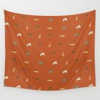 safari Wall Tapestries featuring Safari by FunnyFaceArt
