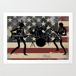 Rock America Art Print
