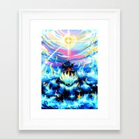 gurren lagann Framed Art Prints featuring Gurren Lagann - Burning Soul by Cielo+