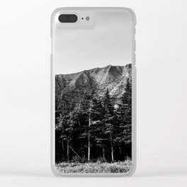 Black and White Katahdin Clear iPhone Case