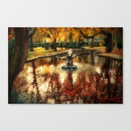 The Bath of the Nymph Canvas Print