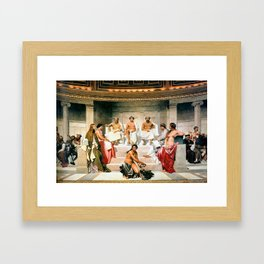 Hemicycle of the Ecole des Beaux, 1814 by Paul Delaroche Framed Art Print