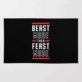 Beast Mode Then Feast Mode Rug
