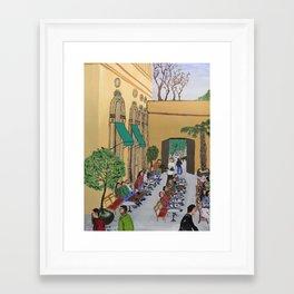 Munich Germany Beer Garden Framed Art Print