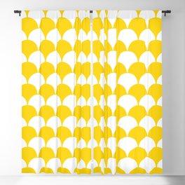 Fan Pattern 321 Yellow Blackout Curtain