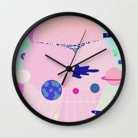 internet Wall Clocks featuring internet by Alba Blázquez
