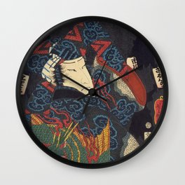 Harimaya Ichicawa Saruhachika Wall Clock