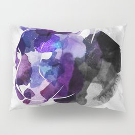 Watercolour Black and Purple Panther Pillow Sham