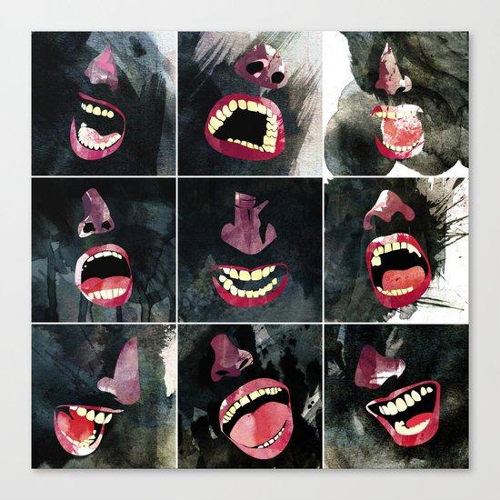 9 gritos Canvas Print