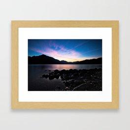 Sunset over Valhalla Framed Art Print