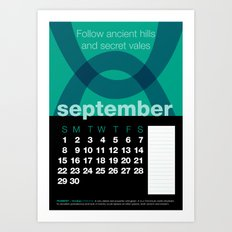 2013 Pigment to Pantone Calendar – SEPTEMBER Art Print