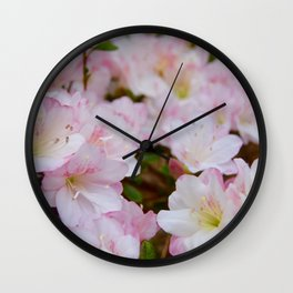 Blooming Azalea Flowers Wall Clock