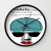 celebrity Wall Clocks featuring Celebrity by jt7art&design