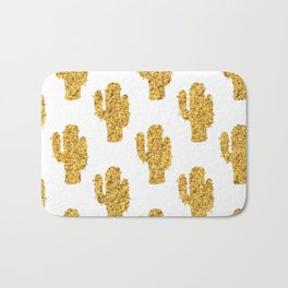 Cactus | Rustic Gold | Southwest Decor Pattern Bath Mat