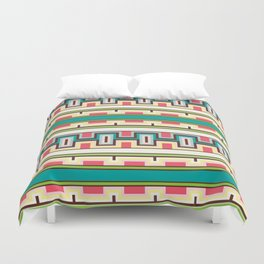 Tribal Aztec Style Block Pattern Duvet Cover