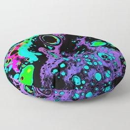 Atomic - purple Floor Pillow