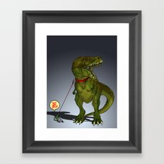 NO ZEUS Framed Art Print