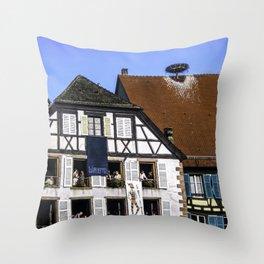 Windows - Colmar France Throw Pillow