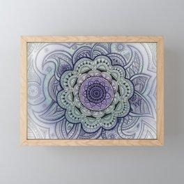Mandala Violet Framed Mini Art Print