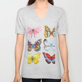 Butterflies 01 Unisex V-Neck