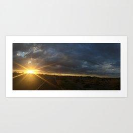 Road Sunset Art Print
