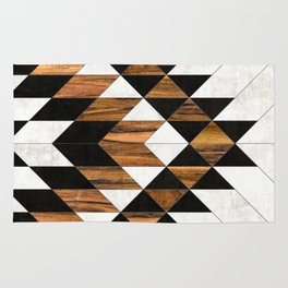 Urban Tribal Pattern 9 - Aztec - Concrete and Wood Rug