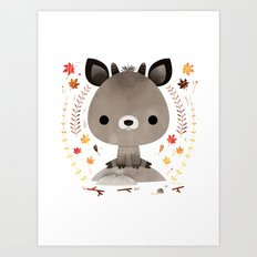 Japanese serow Art Print